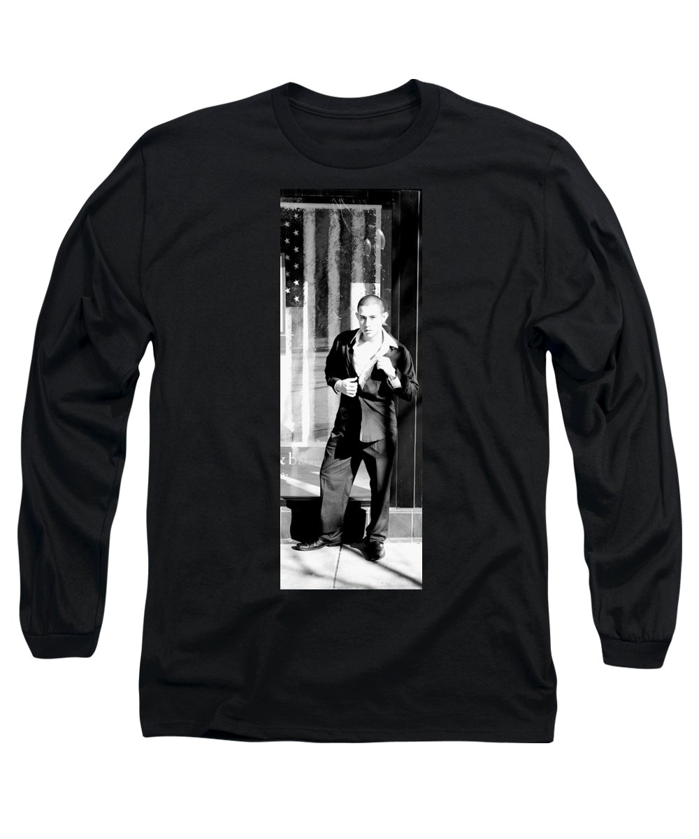 America Long Sleeve T-Shirt featuring the photograph Fine American Model by Angus Hooper Iii
