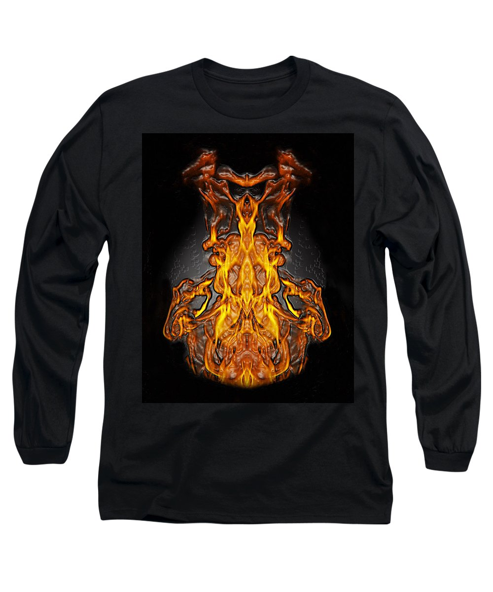 Devil Long Sleeve T-Shirt featuring the photograph Fire Leather by Peter Piatt