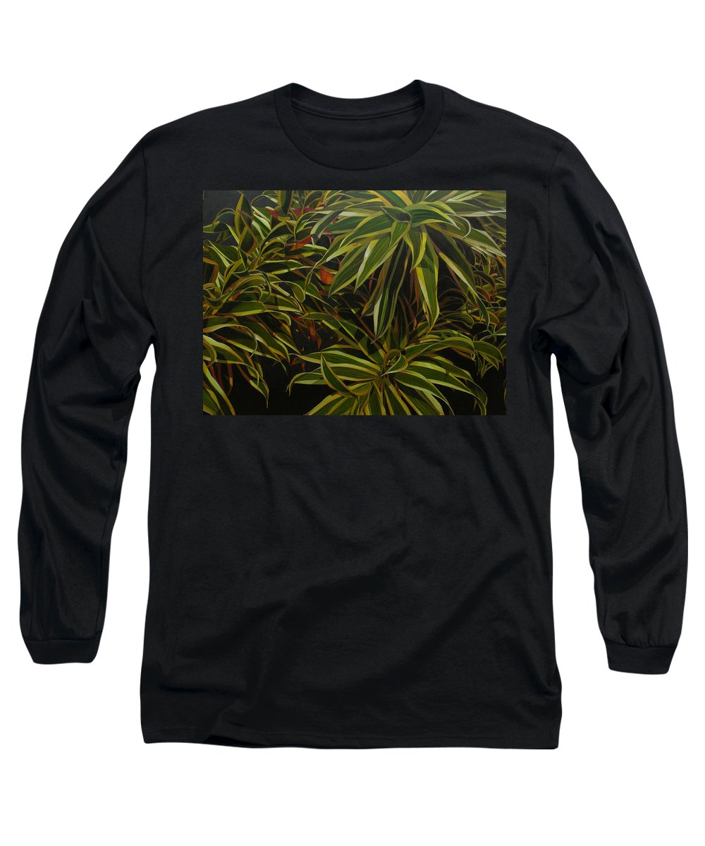 Leaves Long Sleeve T-Shirt featuring the painting First In Cabot by Thu Nguyen