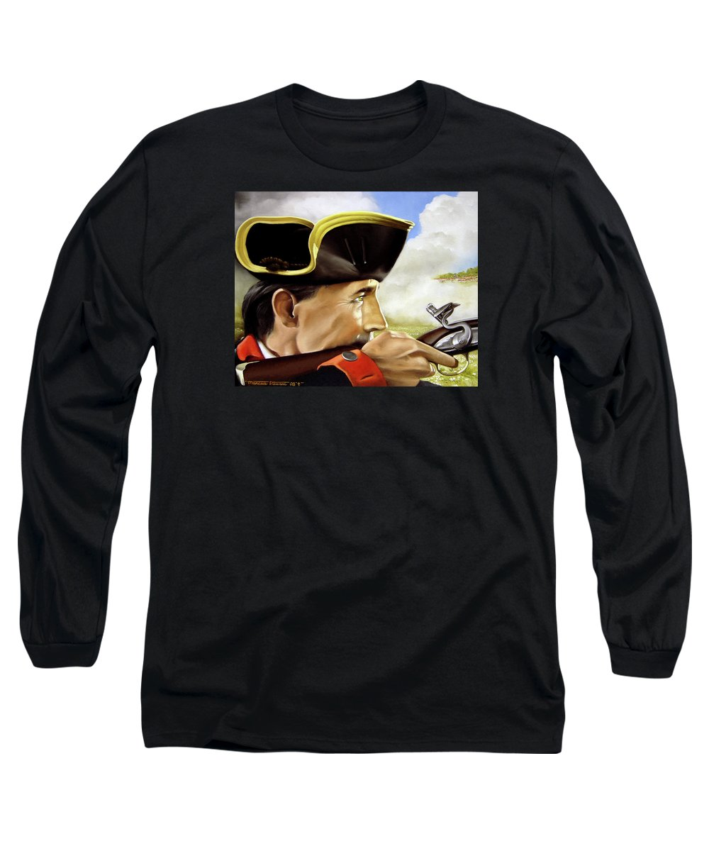 Continental Long Sleeve T-Shirt featuring the painting First To Fight by Marc Stewart