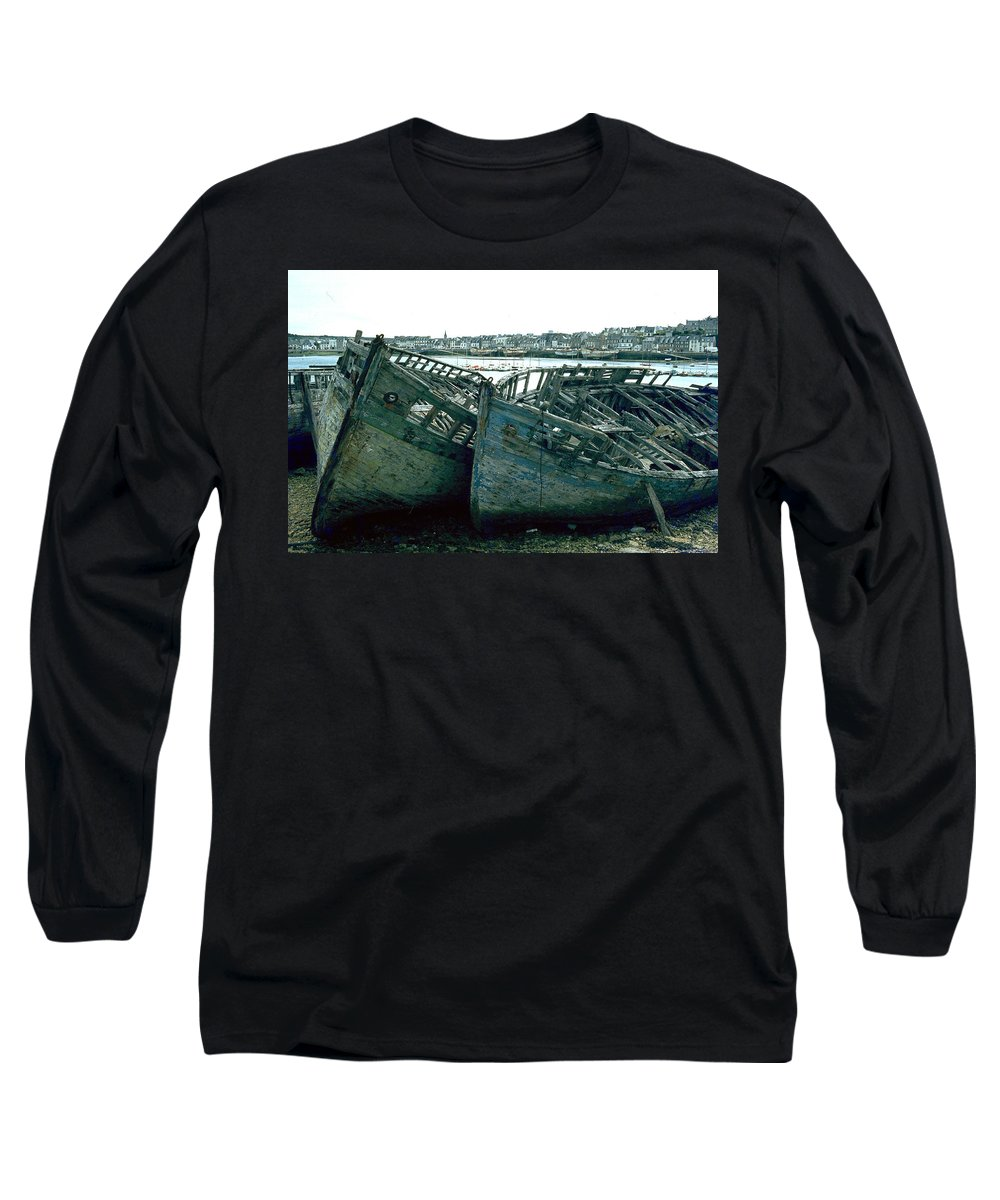 Fisher Boats Long Sleeve T-Shirt featuring the photograph Fisher Boats by Flavia Westerwelle