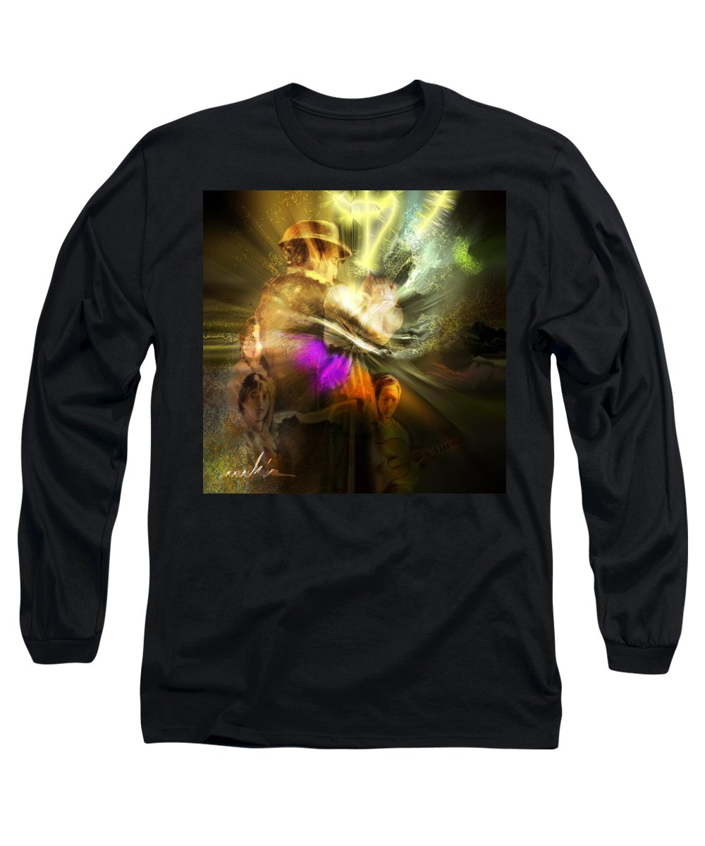 Spain Long Sleeve T-Shirt featuring the painting Flamenco by Miki De Goodaboom