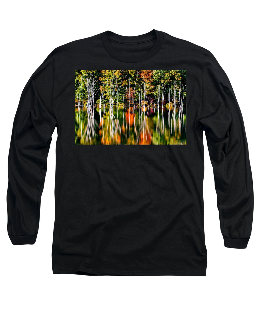 Fall Long Sleeve T-Shirt featuring the photograph Flood by Mihai Andritoiu