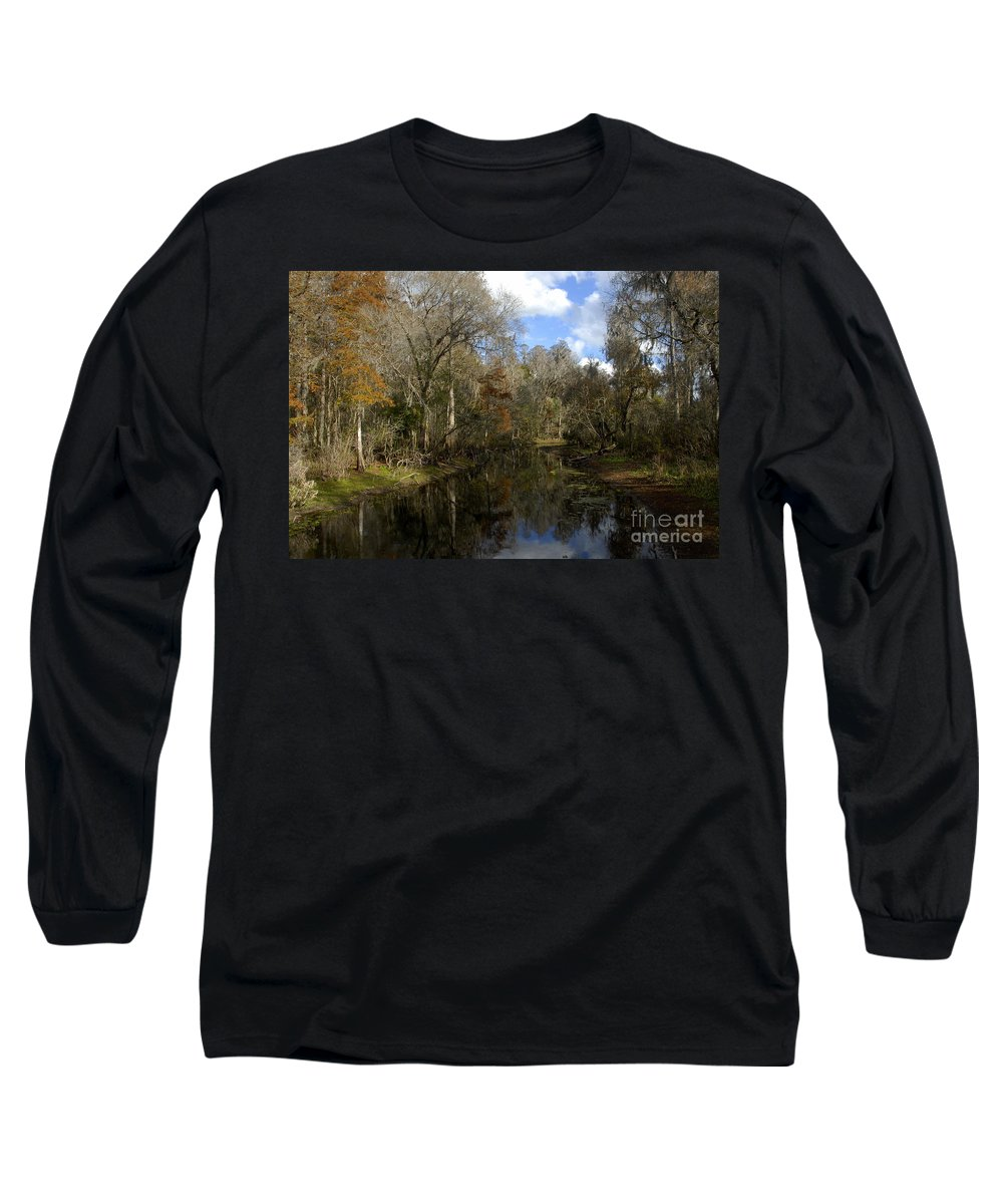 Wetlands Long Sleeve T-Shirt featuring the photograph Florida Wetlands by David Lee Thompson