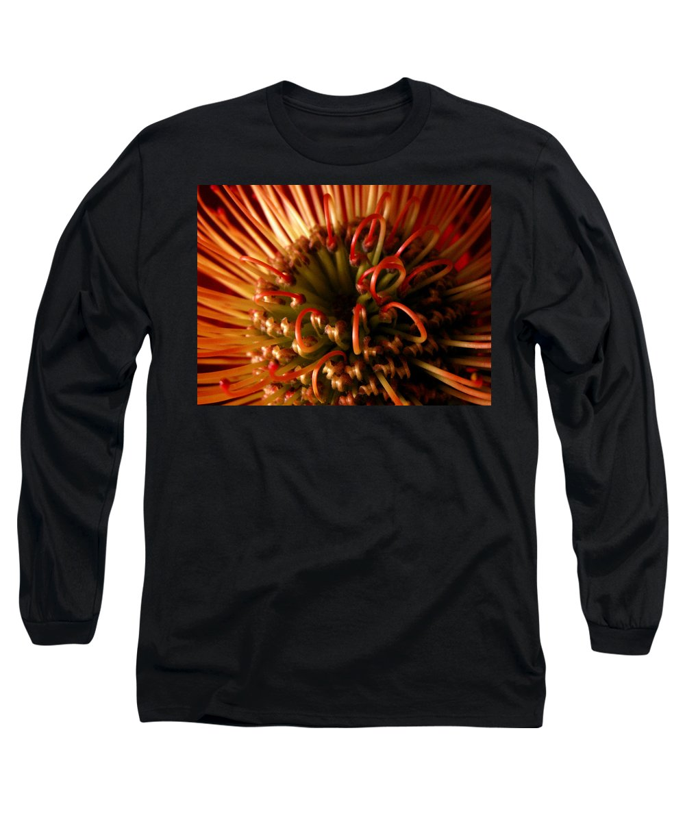 Flowers Long Sleeve T-Shirt featuring the photograph Flower Hawaiian Protea by Nancy Griswold