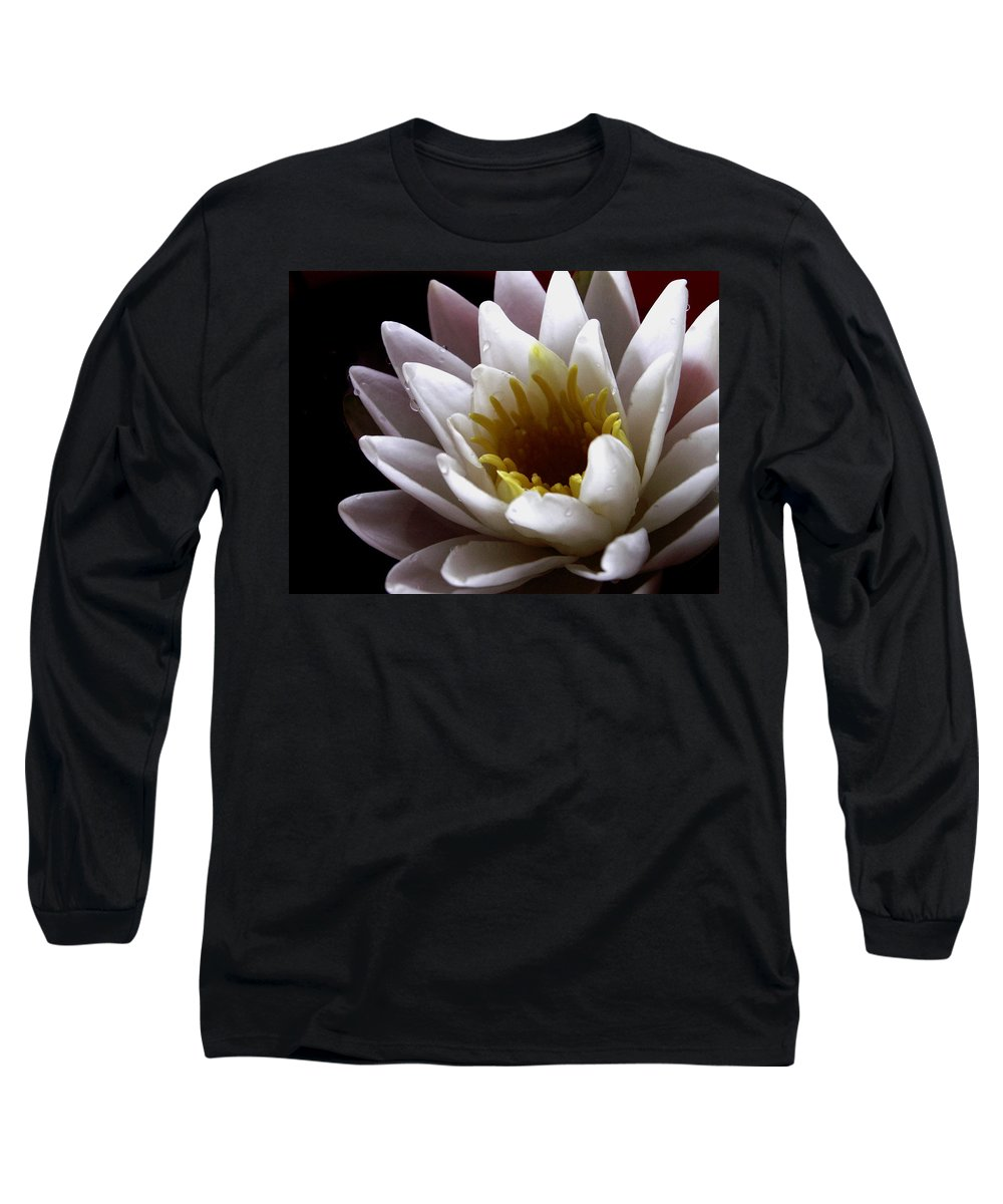 Flowers Long Sleeve T-Shirt featuring the photograph Flower Waterlily by Nancy Griswold