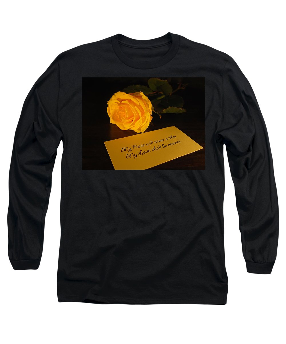 Valentine Long Sleeve T-Shirt featuring the photograph For My Love by Daniel Csoka