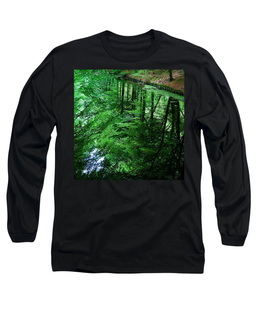 Forest Long Sleeve T-Shirt featuring the photograph Forest Reflection by Dave Bowman
