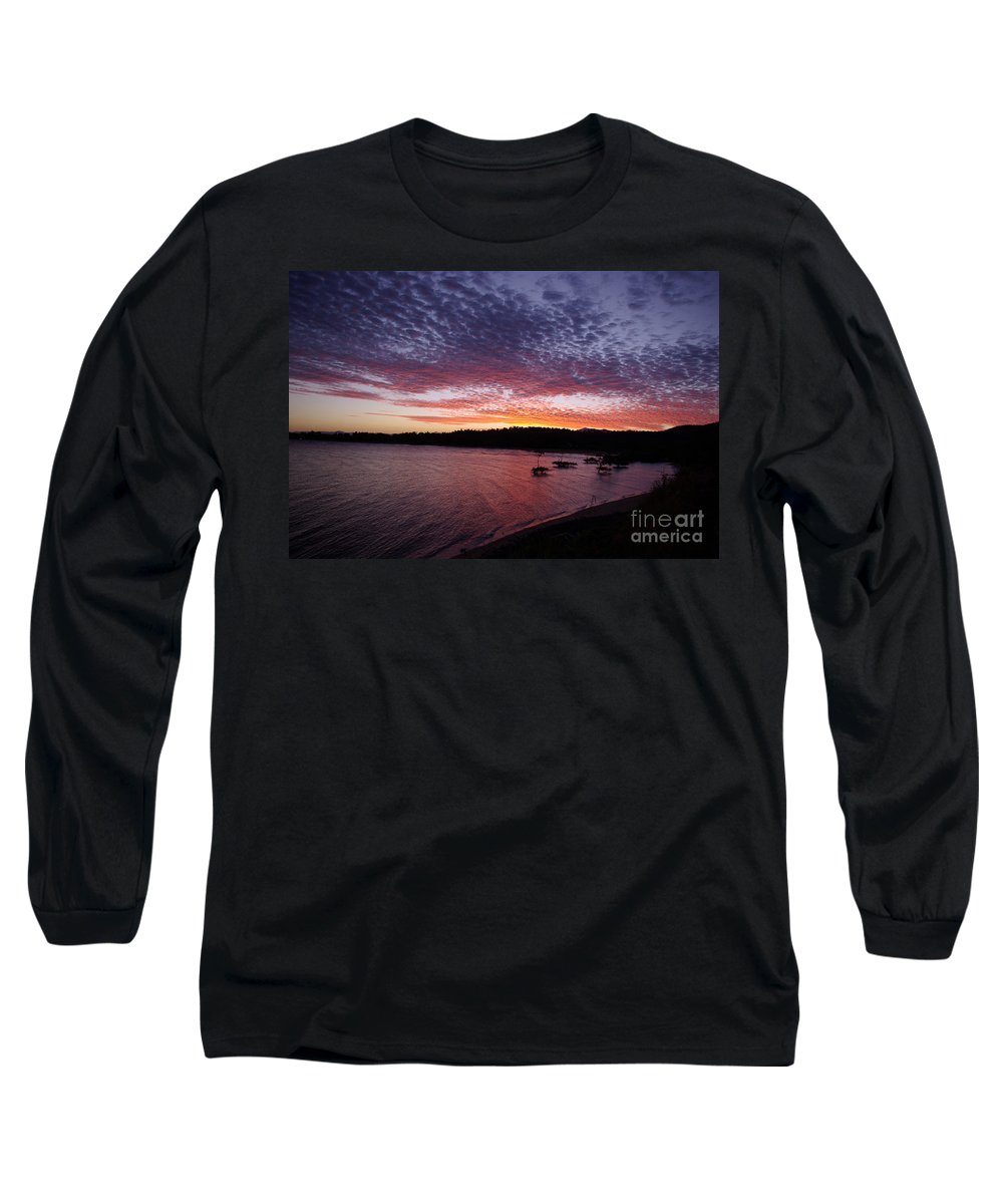 Landscape Long Sleeve T-Shirt featuring the photograph Four Elements Sunset Sequence 1 Coconuts Qld by Kerryn Madsen - Pietsch