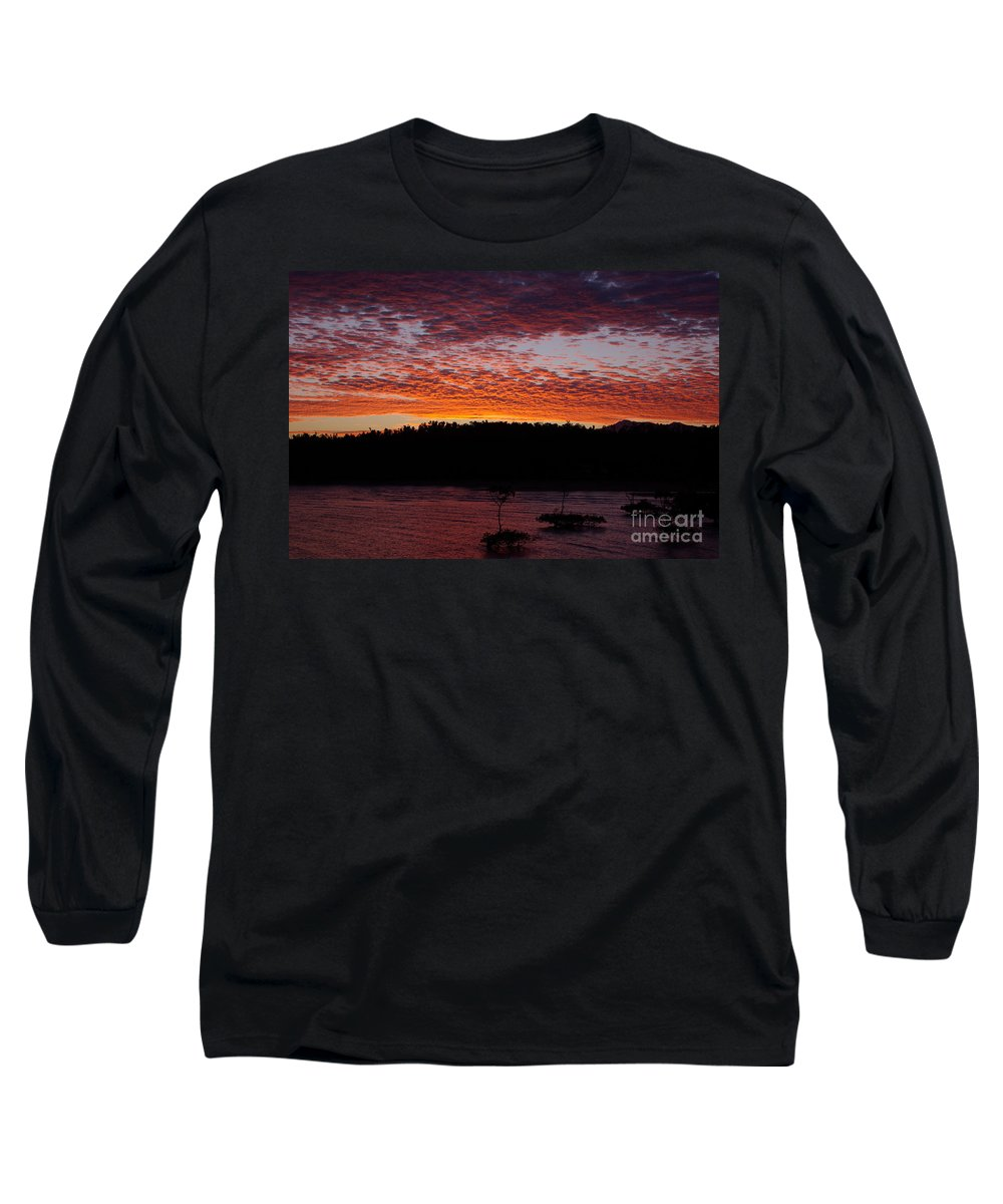 Landscape Long Sleeve T-Shirt featuring the photograph Four Elements Sunset Sequence 2 Coconuts Qld by Kerryn Madsen - Pietsch