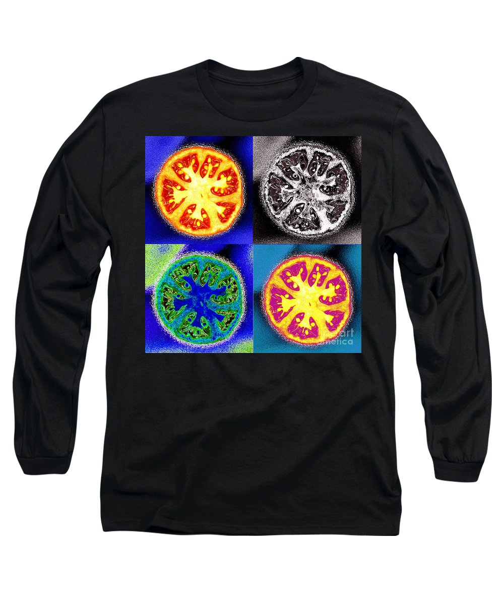 Tomatoes Long Sleeve T-Shirt featuring the photograph Four Tomatoes by Nancy Mueller