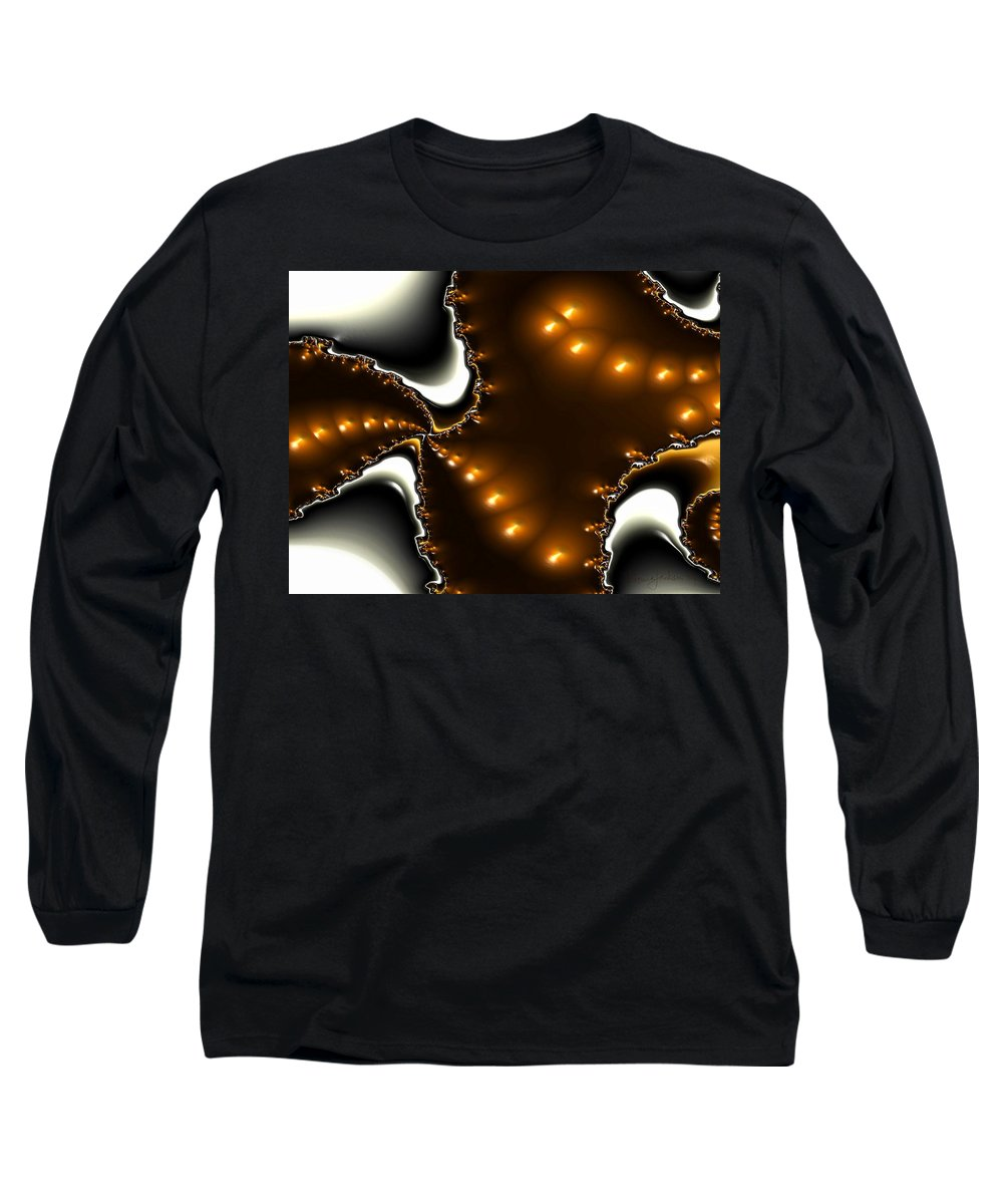 Nest Eggs Fractals Jewels Long Sleeve T-Shirt featuring the digital art Fractal 2 by Veronica Jackson