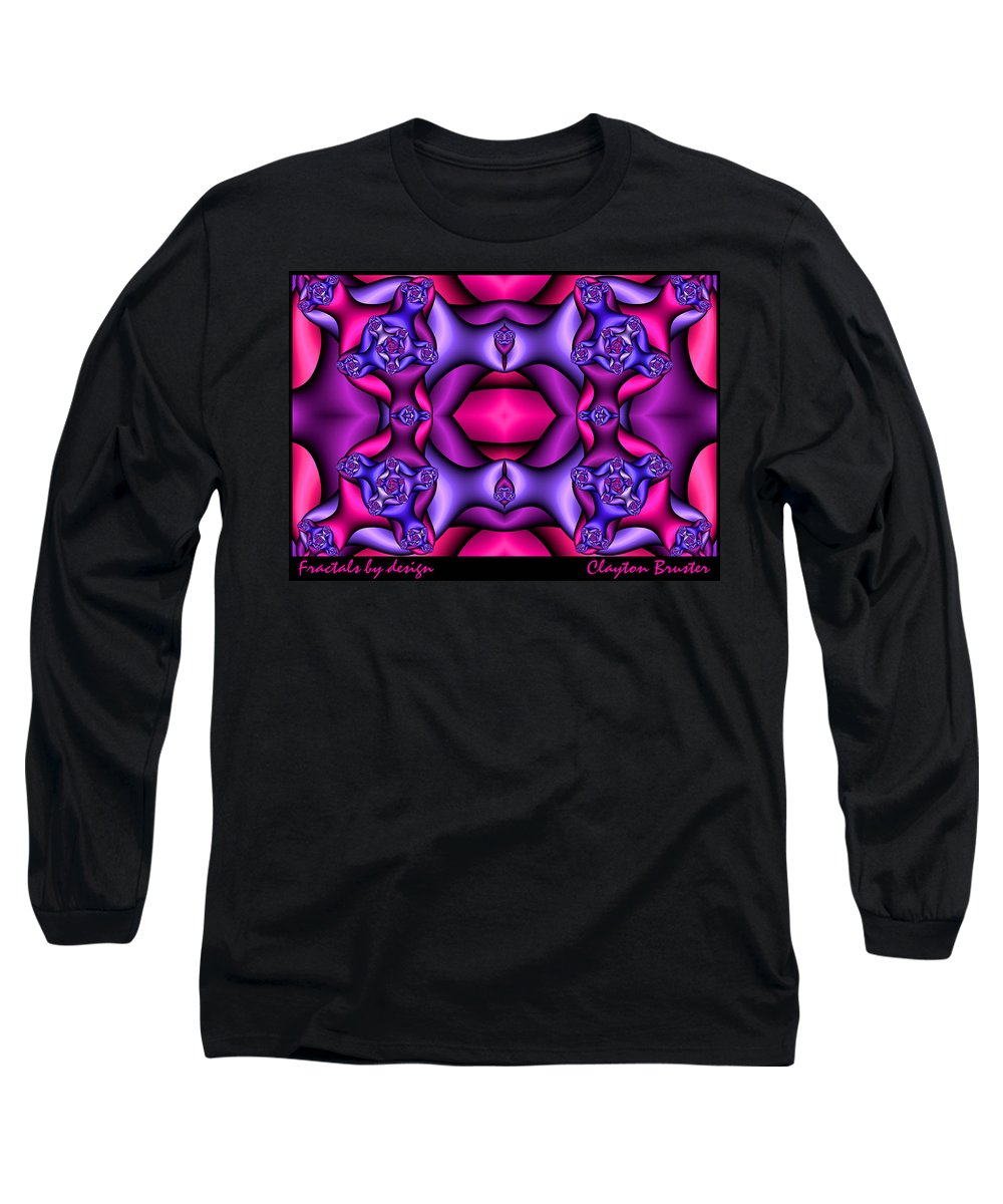 Long Sleeve T-Shirt featuring the digital art Fractals By Design by Clayton Bruster