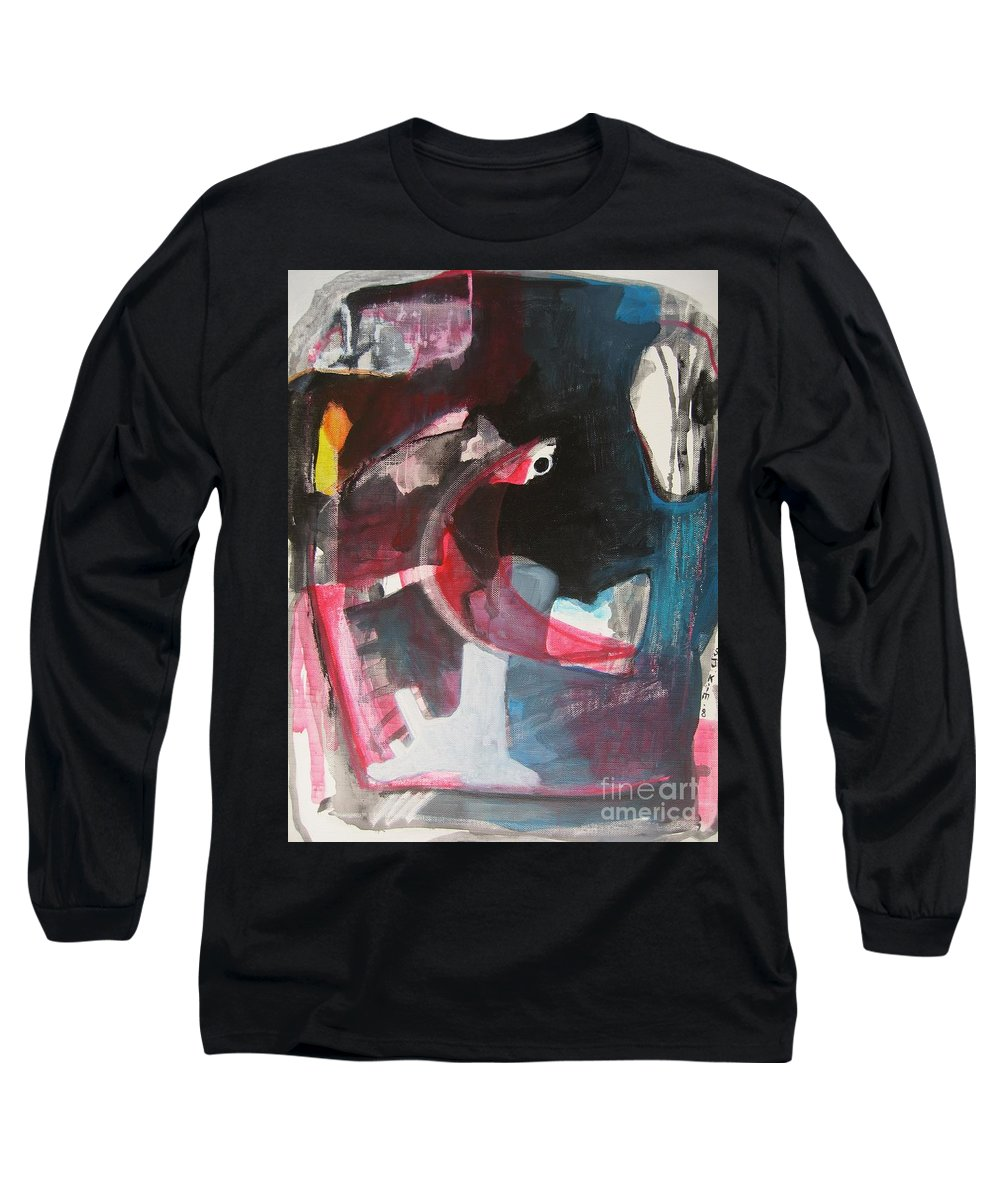 Abstract Paintings Paintings Abstract Art Paintings Long Sleeve T-Shirt featuring the painting Fumbling With Memory by Seon-Jeong Kim