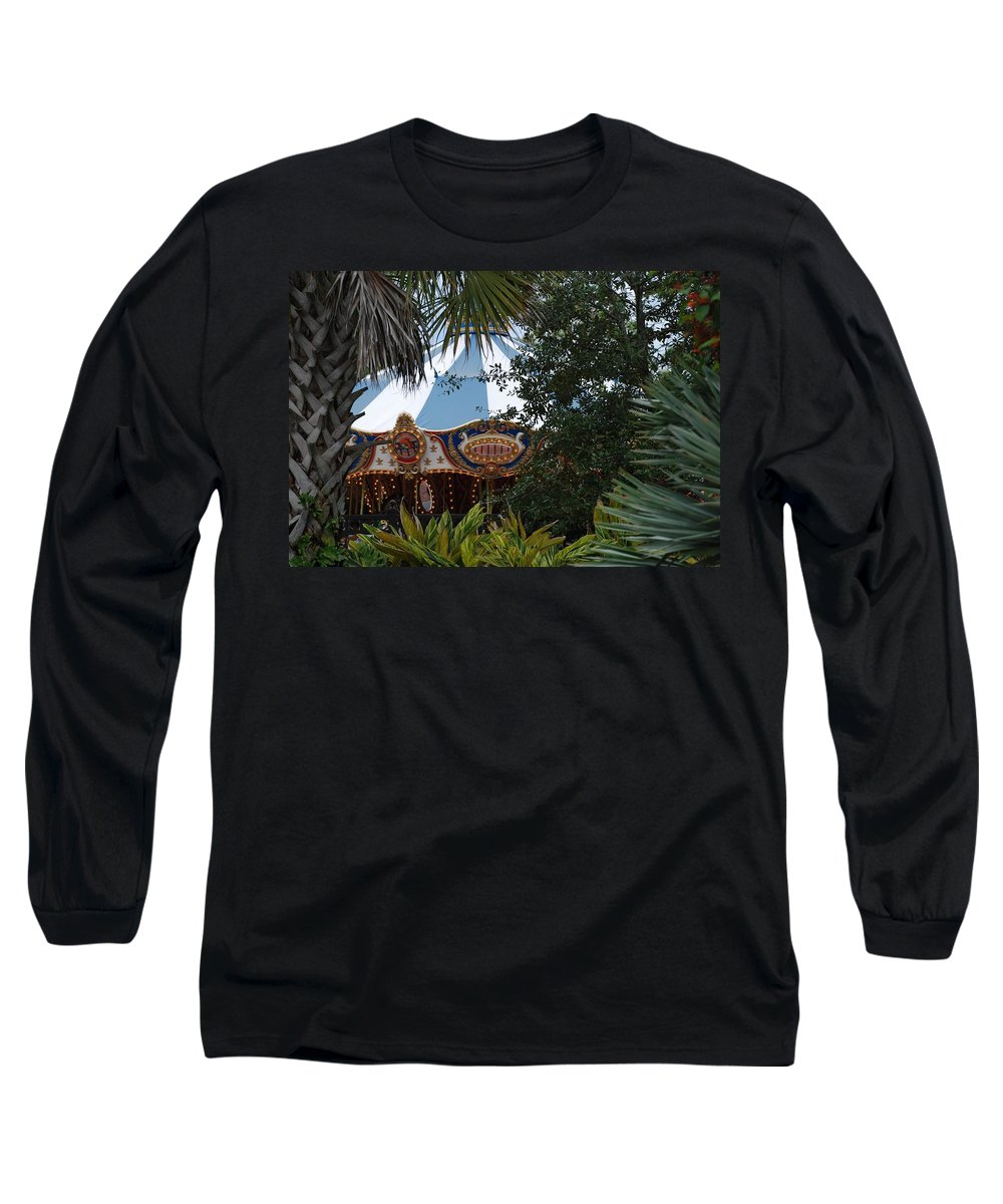 Architecture Long Sleeve T-Shirt featuring the photograph Fun Thru The Trees by Rob Hans
