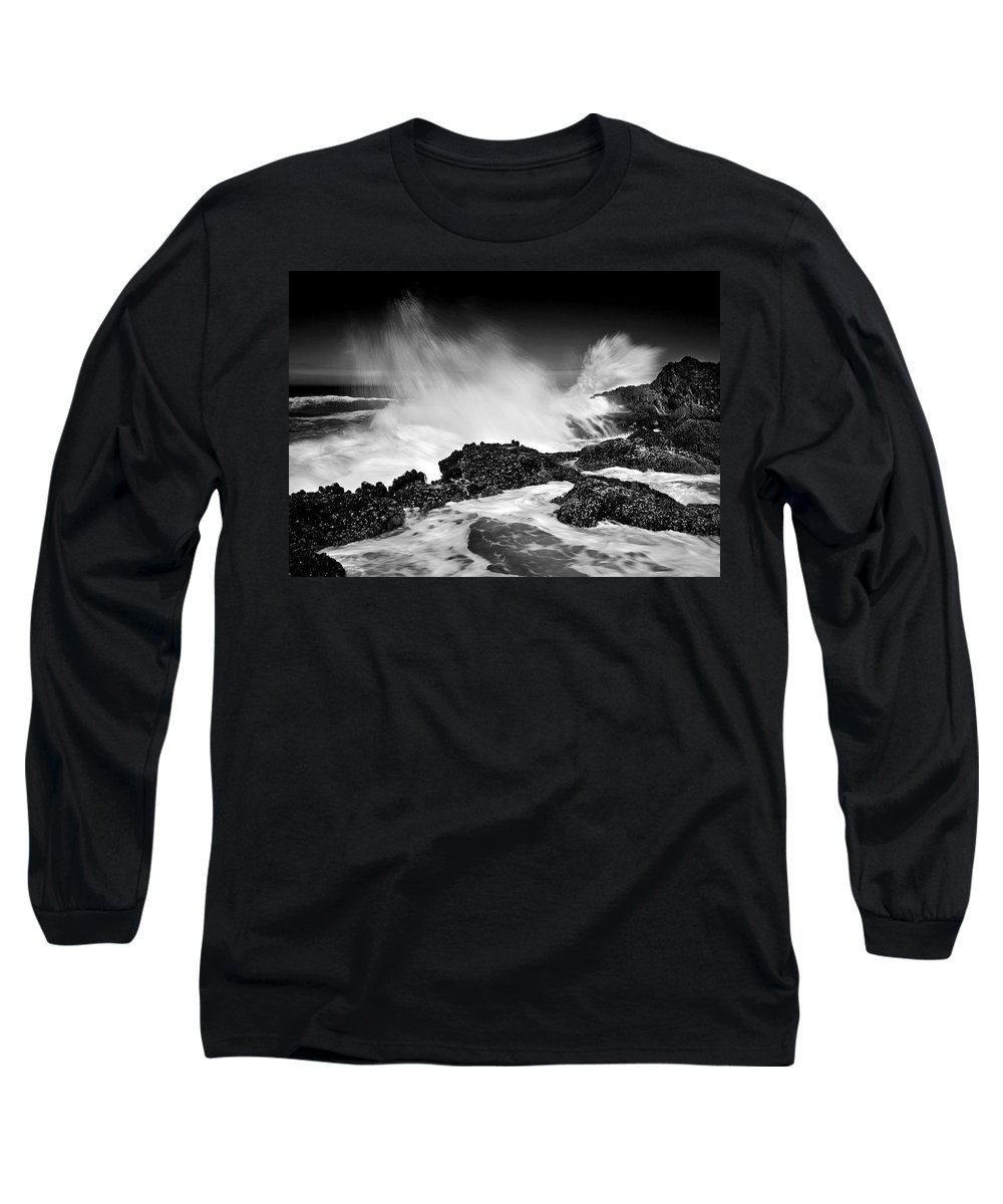 Waves Long Sleeve T-Shirt featuring the photograph Fury by Mike Dawson