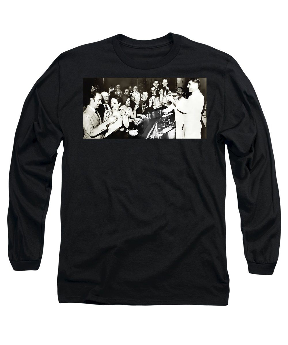 Prohibition Long Sleeve T-Shirt featuring the photograph Georgia Speakeasy Gaiety C. 1925 by Daniel Hagerman