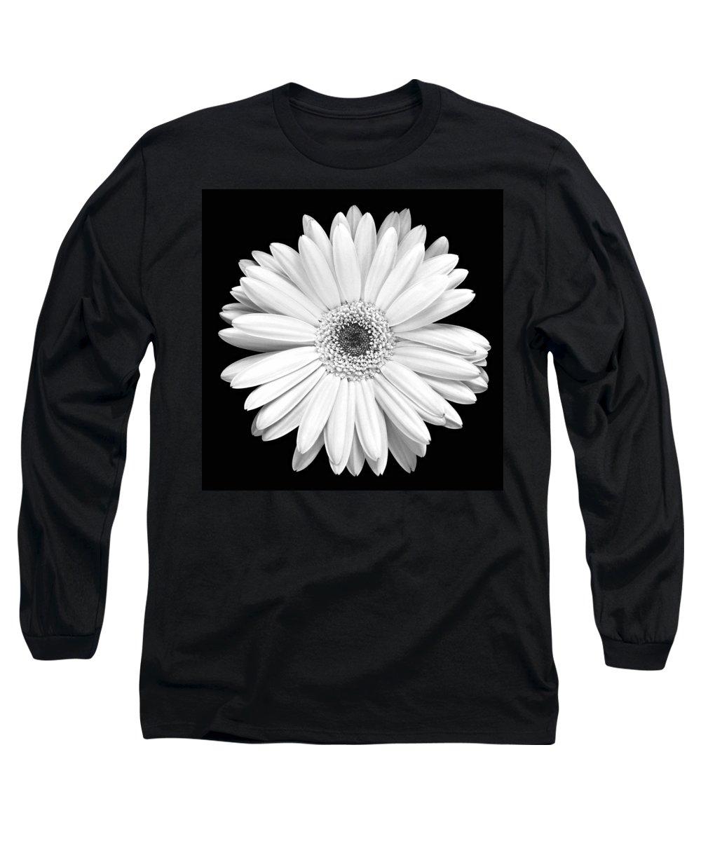Gerber Long Sleeve T-Shirt featuring the photograph Single Gerbera Daisy by Marilyn Hunt