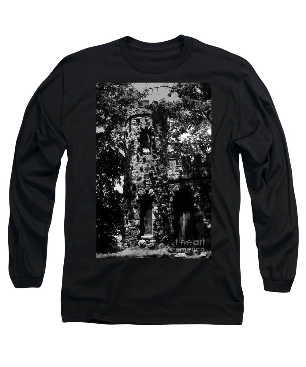 Castle Long Sleeve T-Shirt featuring the photograph Glen Island Castle by Richard Rizzo