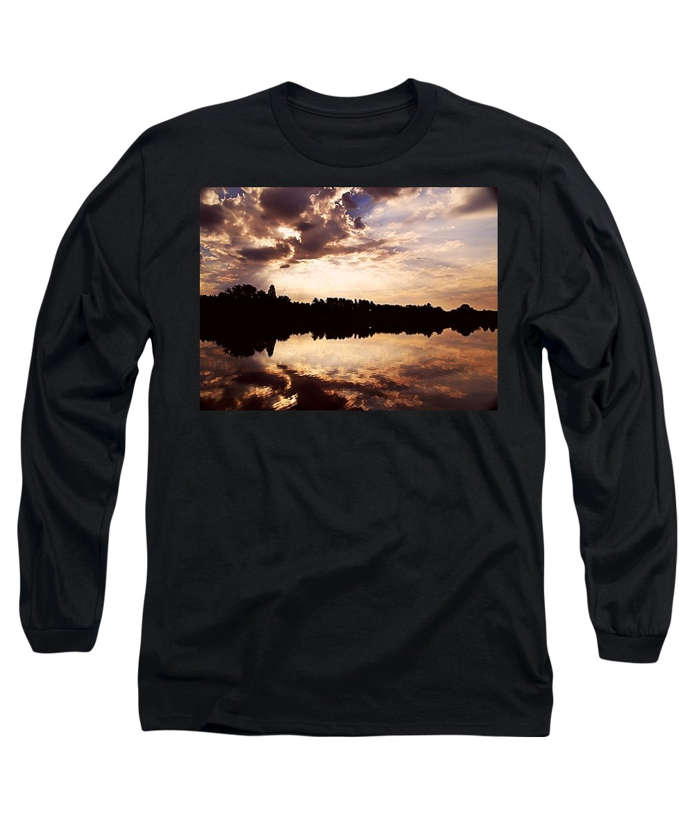Sunrise Long Sleeve T-Shirt featuring the photograph Glorious Moments by Gaby Swanson