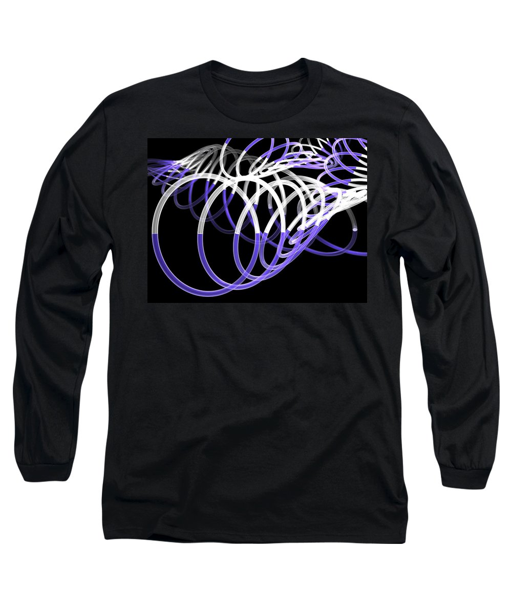Scott Piers Long Sleeve T-Shirt featuring the painting Glow Stix by Scott Piers