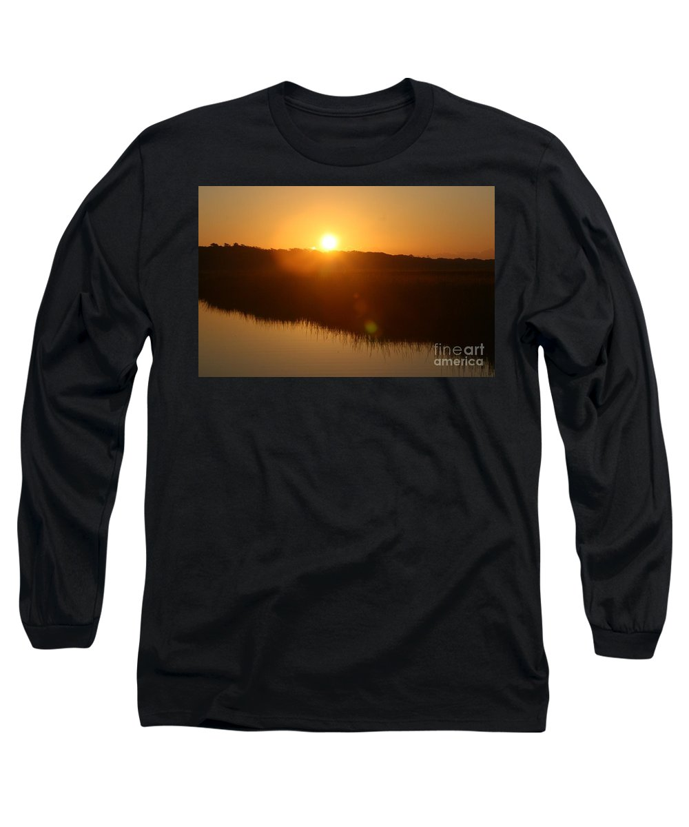 Glow Long Sleeve T-Shirt featuring the photograph Gold Morning by Nadine Rippelmeyer