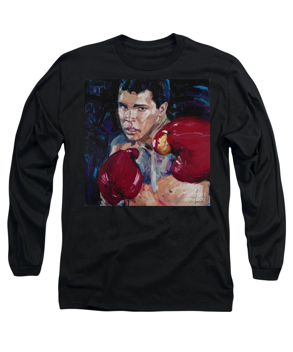 Figurative Long Sleeve T-Shirt featuring the painting Great Ali by Sergey Ignatenko