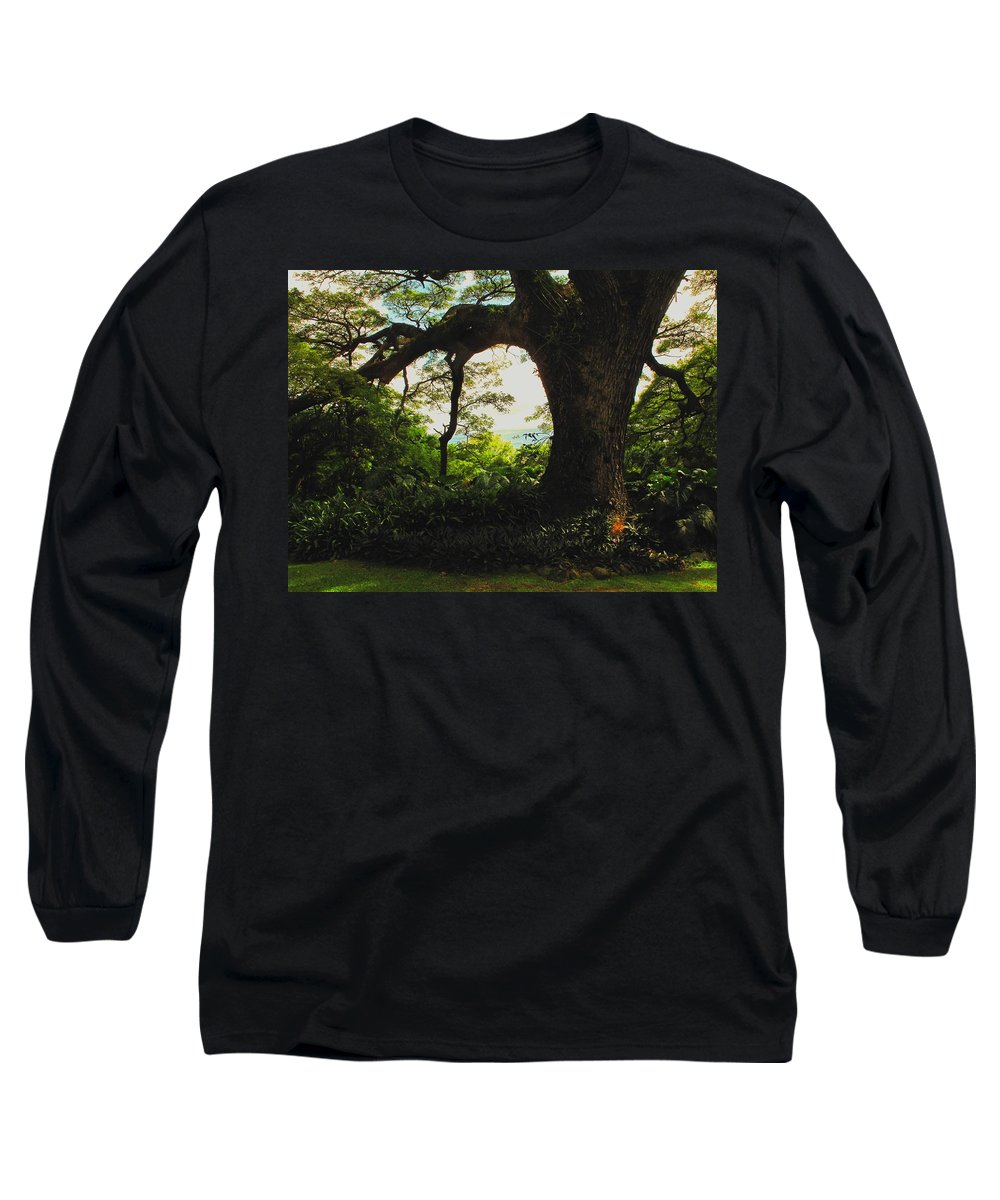 Tropical Long Sleeve T-Shirt featuring the photograph Green Giant by Ian MacDonald