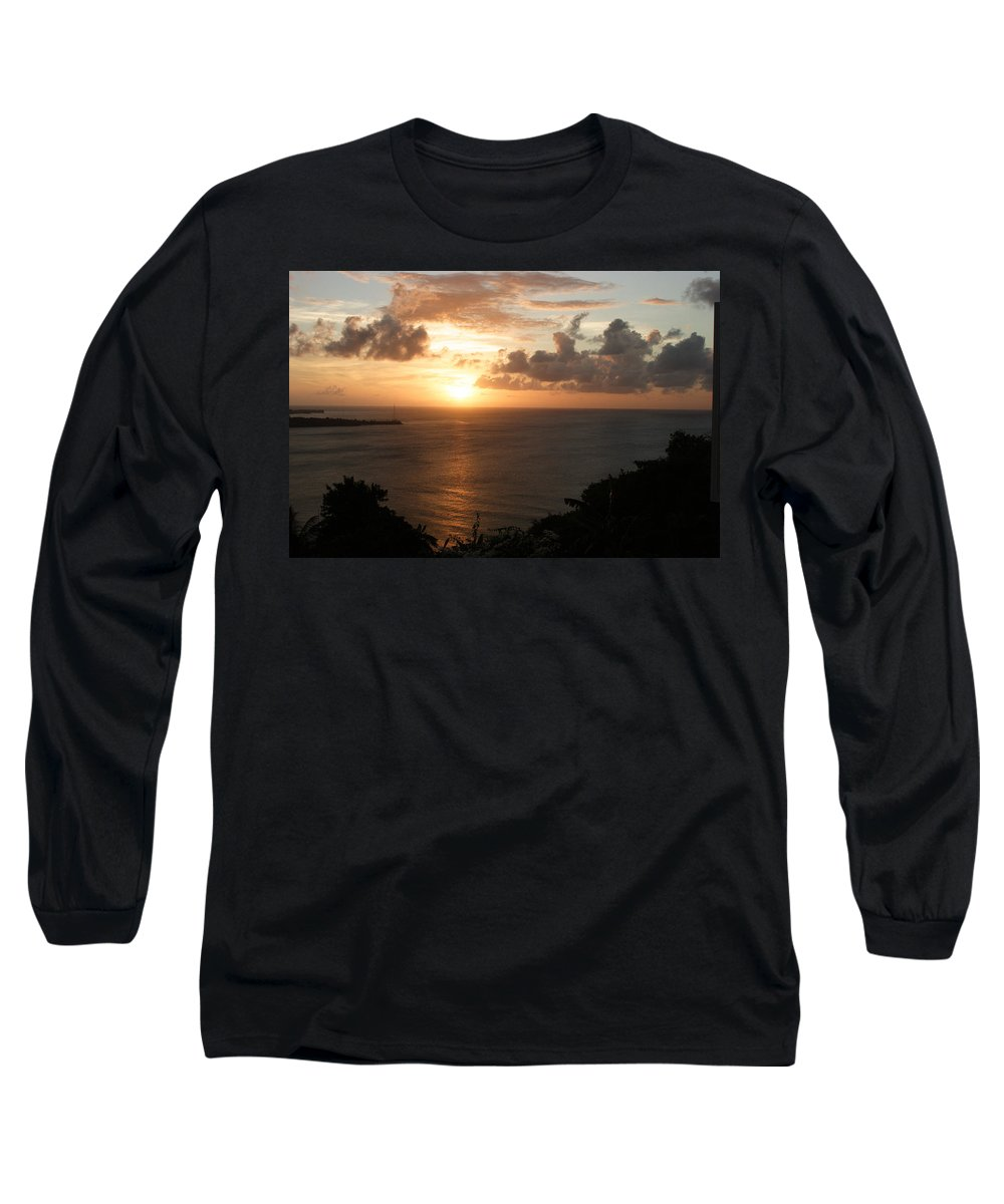 Grenada Long Sleeve T-Shirt featuring the photograph Grenadian Sunset I by Jean Macaluso