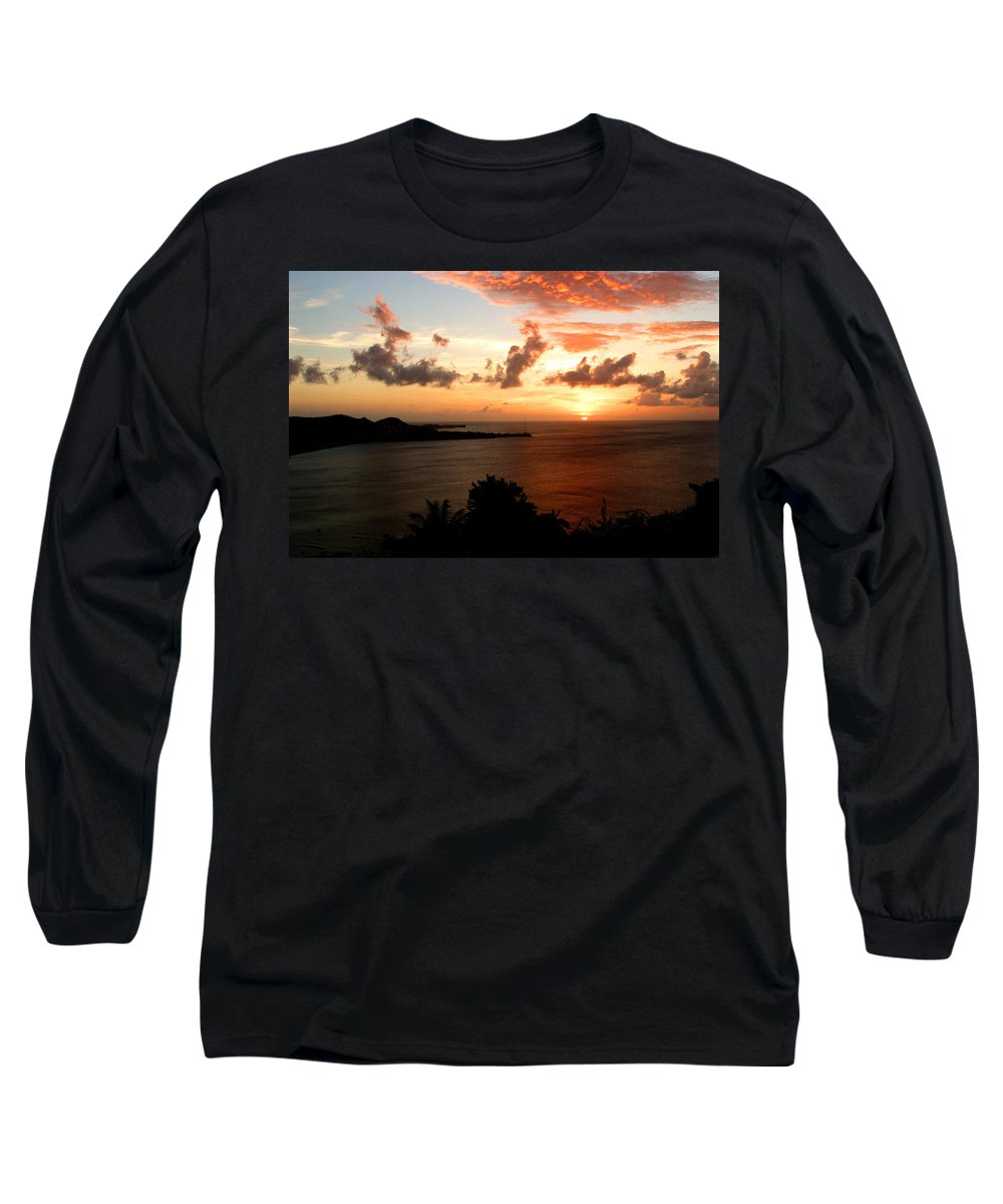 Sunset Long Sleeve T-Shirt featuring the photograph Grenadian Sunset II by Jean Macaluso