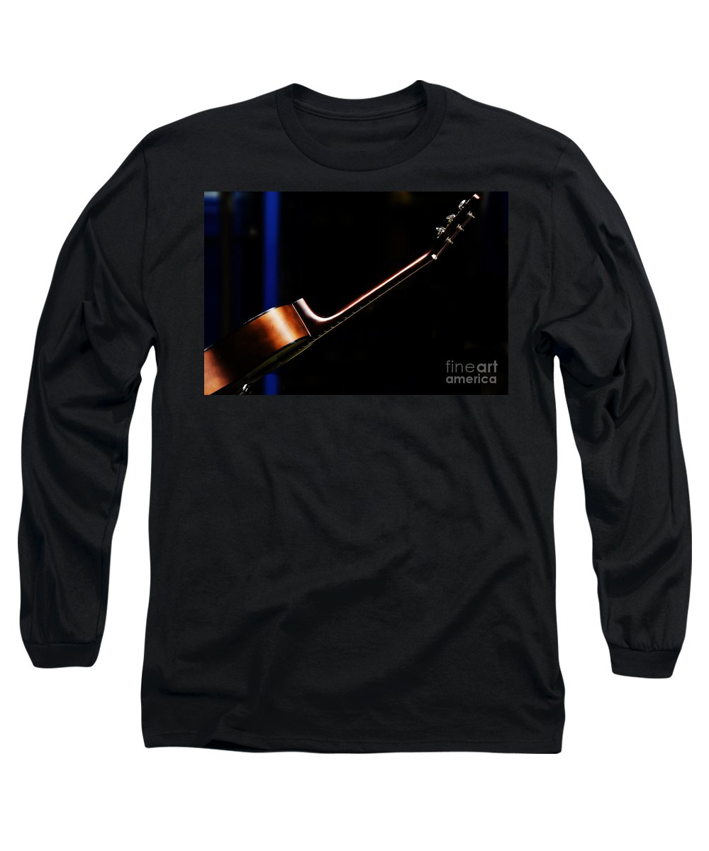 Guitar Long Sleeve T-Shirt featuring the photograph Guitar by Avalon Fine Art Photography