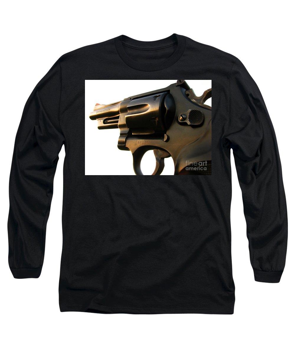 Gun Long Sleeve T-Shirt featuring the photograph Gun Series by Amanda Barcon