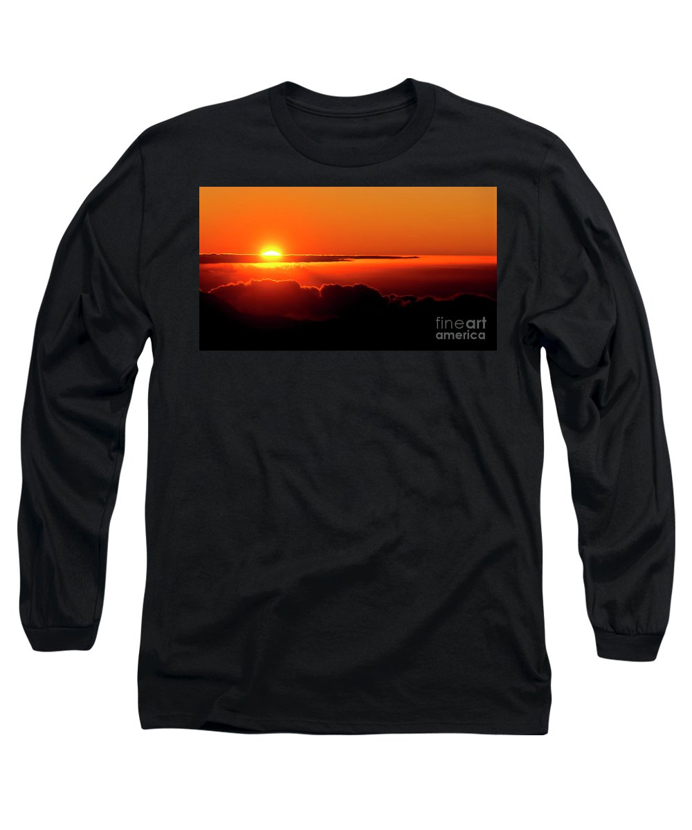 Sunrise Long Sleeve T-Shirt featuring the photograph Maui Hawaii Haleakala National Park Sunrise IIi by Jim Cazel