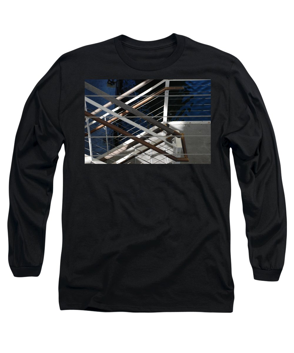 Water Long Sleeve T-Shirt featuring the photograph Hand Rails by Rob Hans