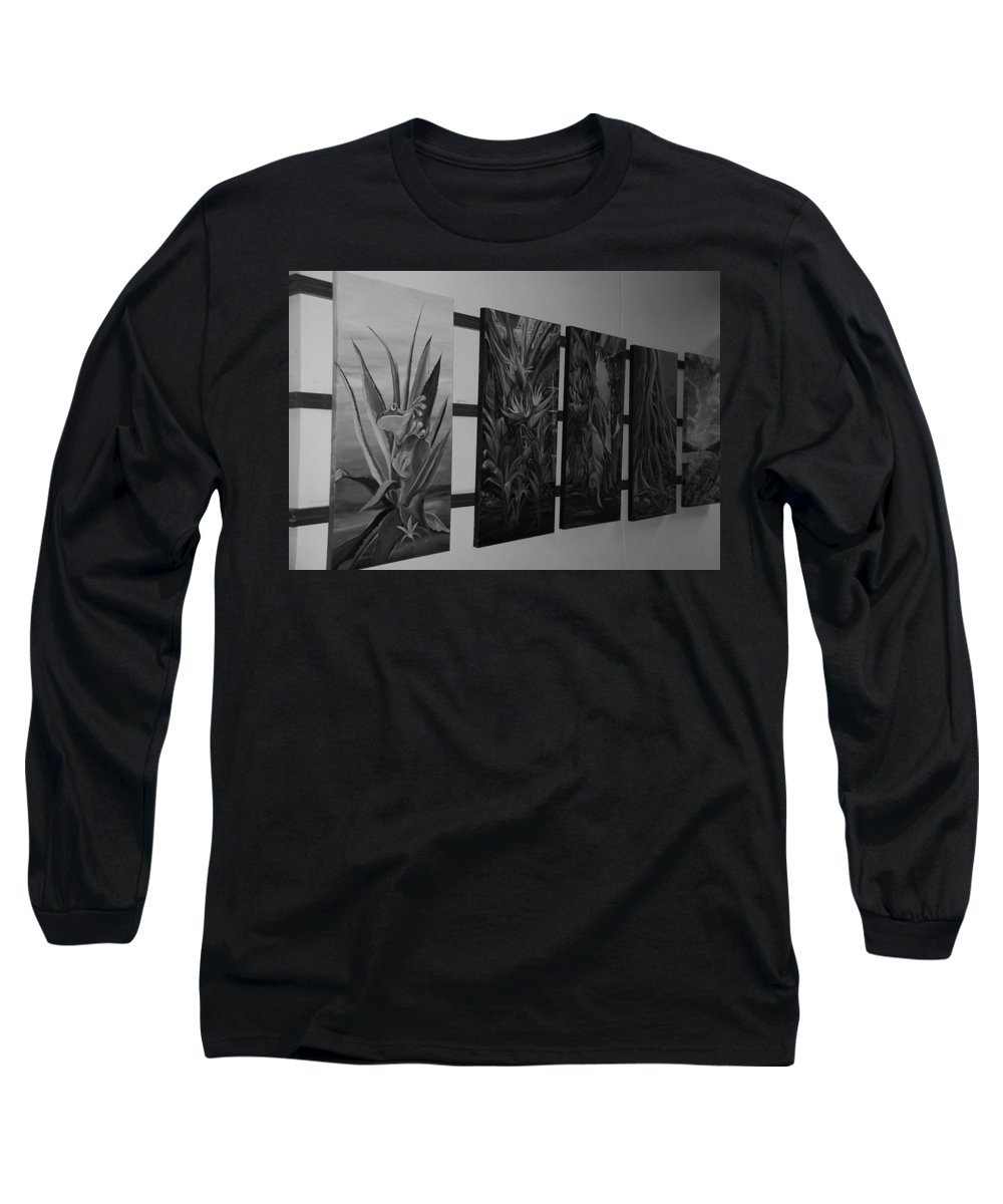 Black And White Long Sleeve T-Shirt featuring the photograph Hanging Art by Rob Hans