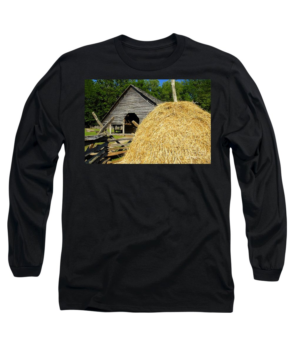Harvest Long Sleeve T-Shirt featuring the photograph Harvest by David Lee Thompson