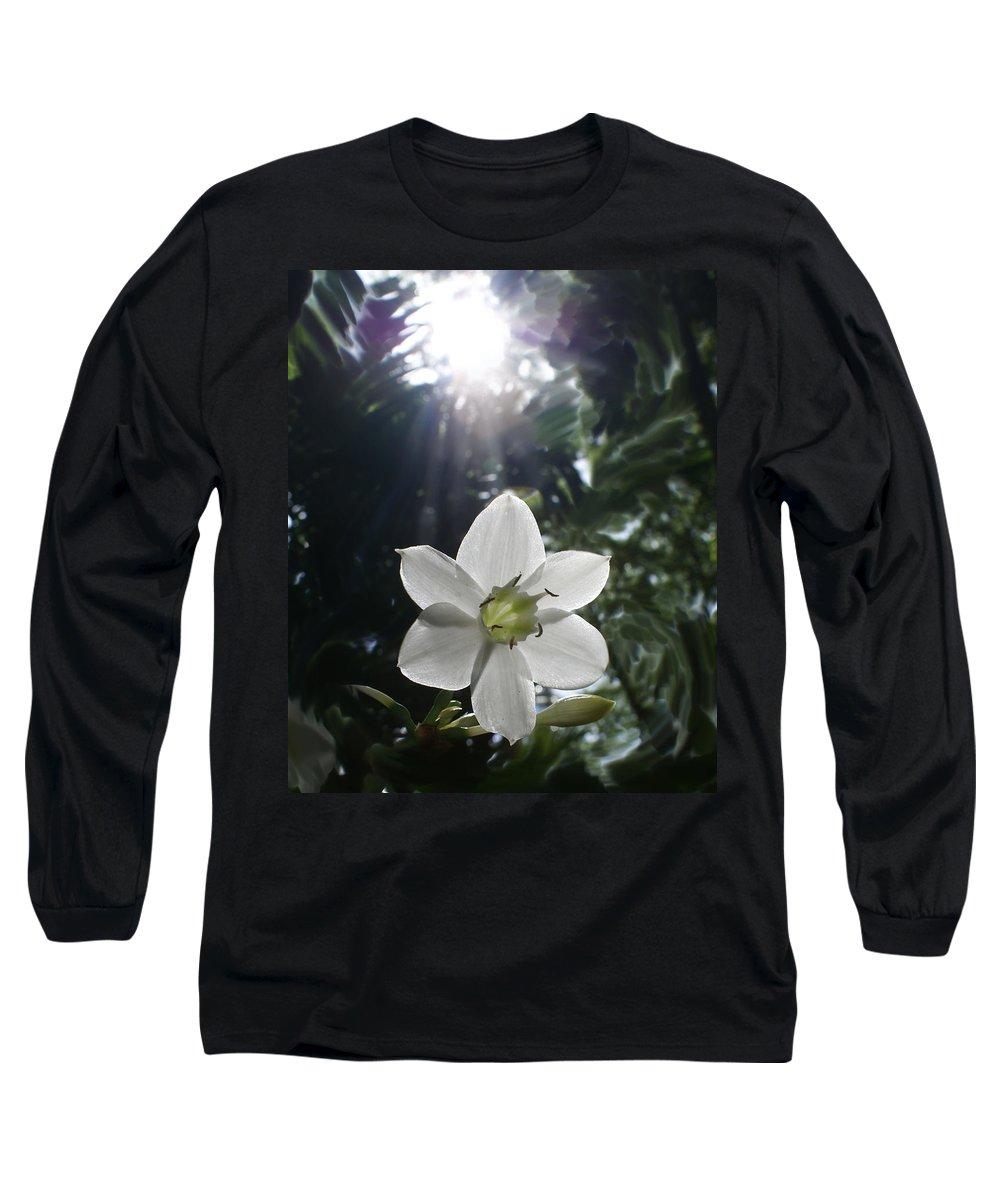 Hawaiian Long Sleeve T-Shirt featuring the photograph Hawaiian Flower by Heather Coen