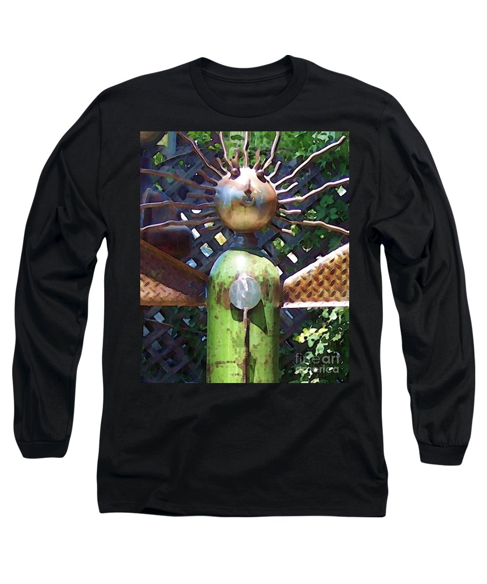 Sculpture Long Sleeve T-Shirt featuring the photograph Head For Detail by Debbi Granruth
