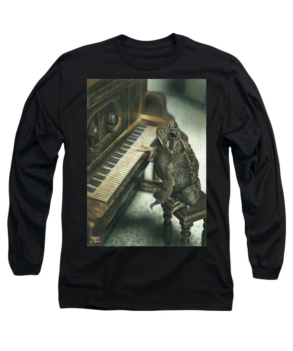 Heart Long Sleeve T-Shirt featuring the drawing Heart Of The Symphony by Cara Bevan