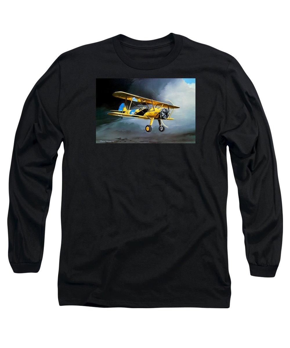 Military Long Sleeve T-Shirt featuring the painting Here Comes The Sun by Marc Stewart