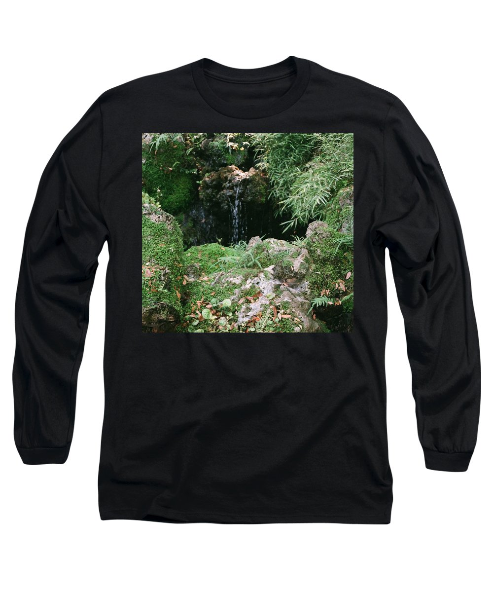 Nature Long Sleeve T-Shirt featuring the photograph Hidden Waterfall by Dean Triolo