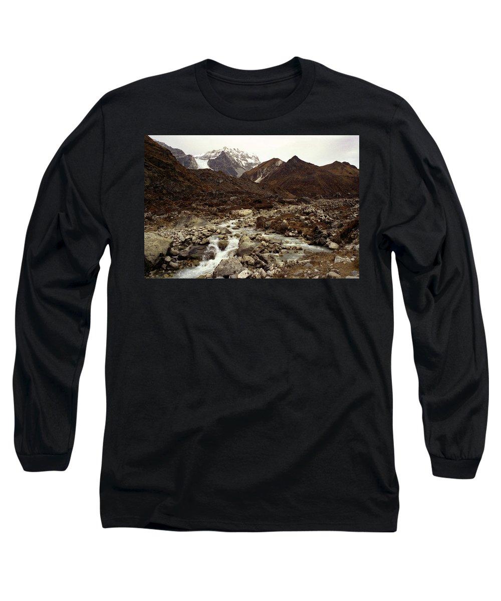 Himalaya Long Sleeve T-Shirt featuring the photograph Himalaya by Patrick Klauss