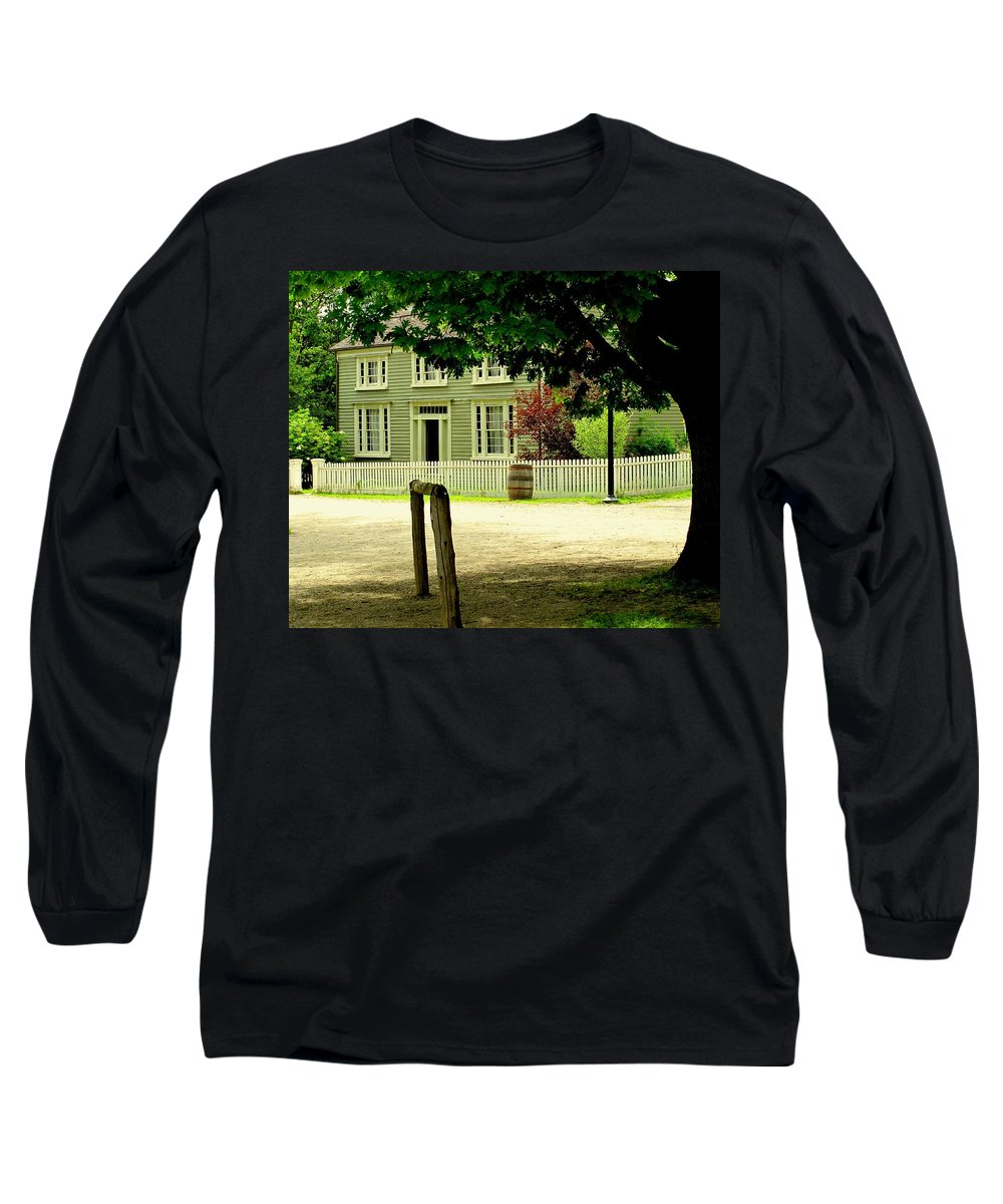 Hitching Post Long Sleeve T-Shirt featuring the photograph Hitching Post by Ian MacDonald