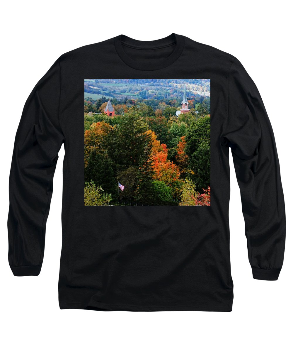 Landscape Long Sleeve T-Shirt featuring the photograph Homer Ny by David Lane