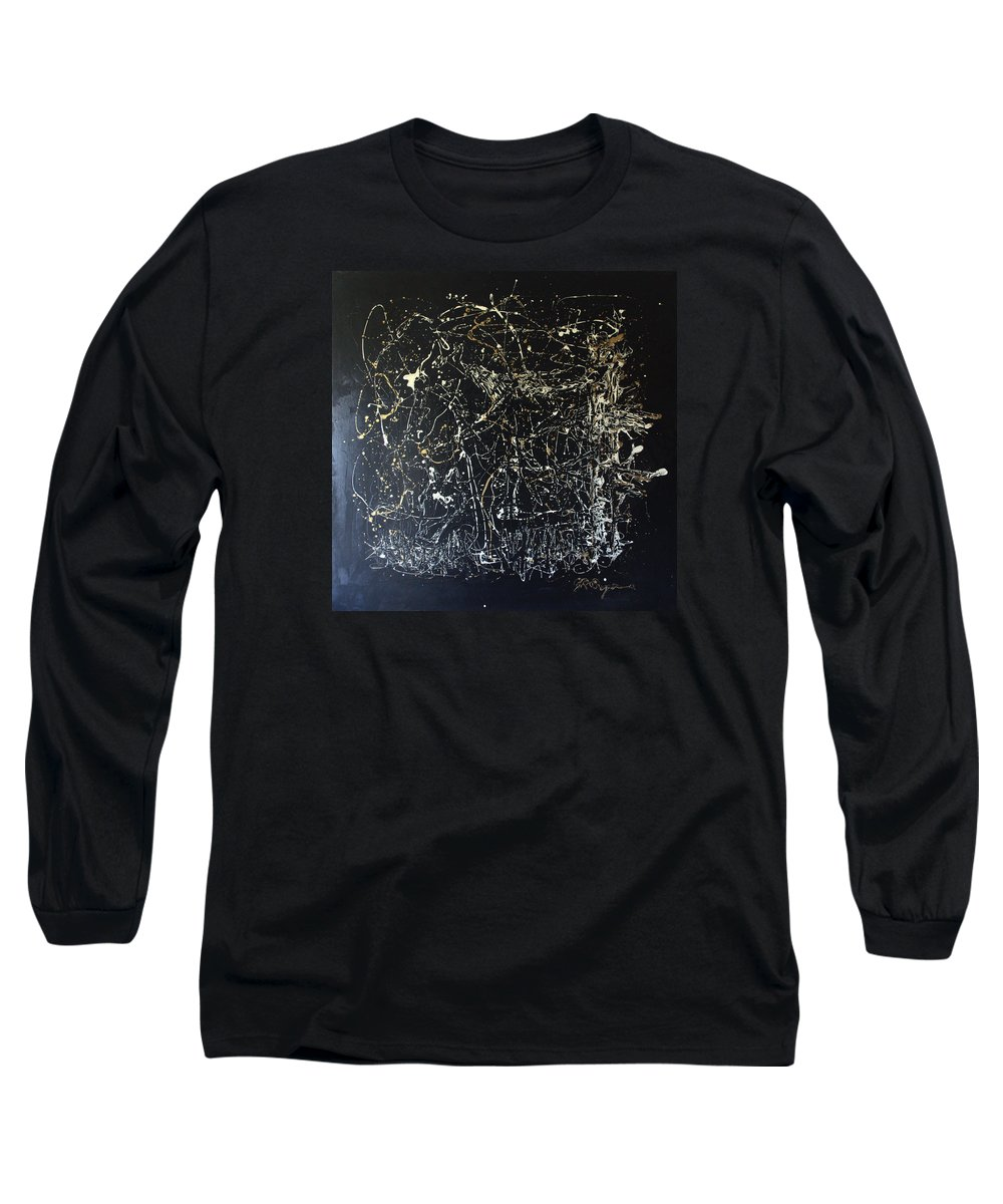 Horse In Pasture Long Sleeve T-Shirt featuring the mixed media Horse In Pasture by J R Seymour