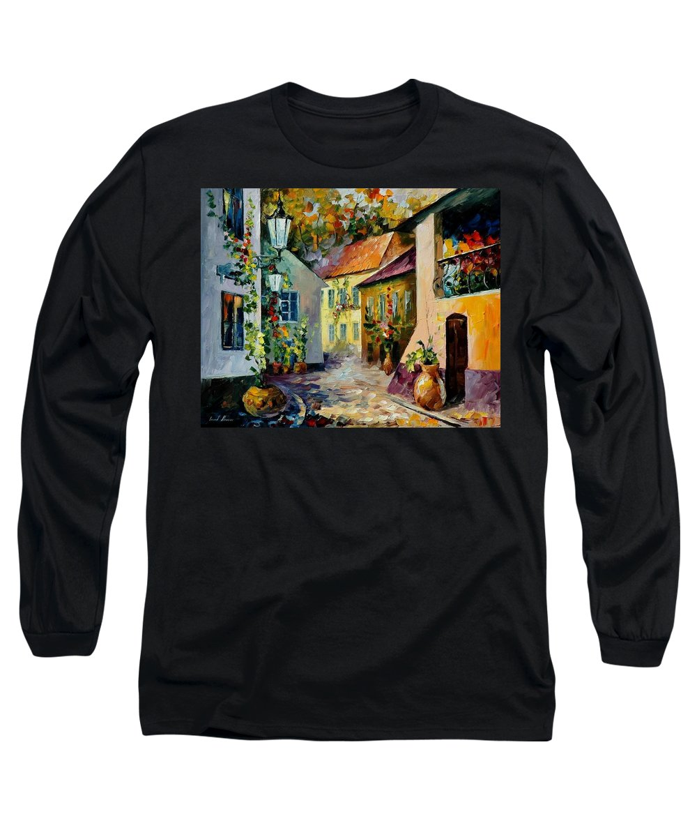 Landscape Long Sleeve T-Shirt featuring the painting Hot Noon Original Oil Painting by Leonid Afremov