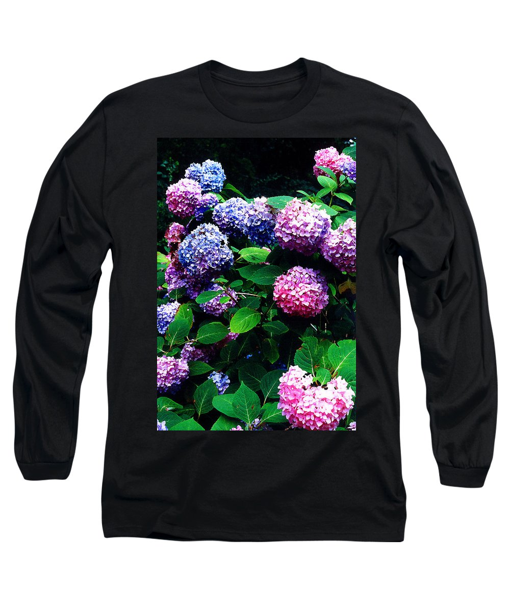 Flowers Long Sleeve T-Shirt featuring the photograph Hydrangeas by Nancy Mueller
