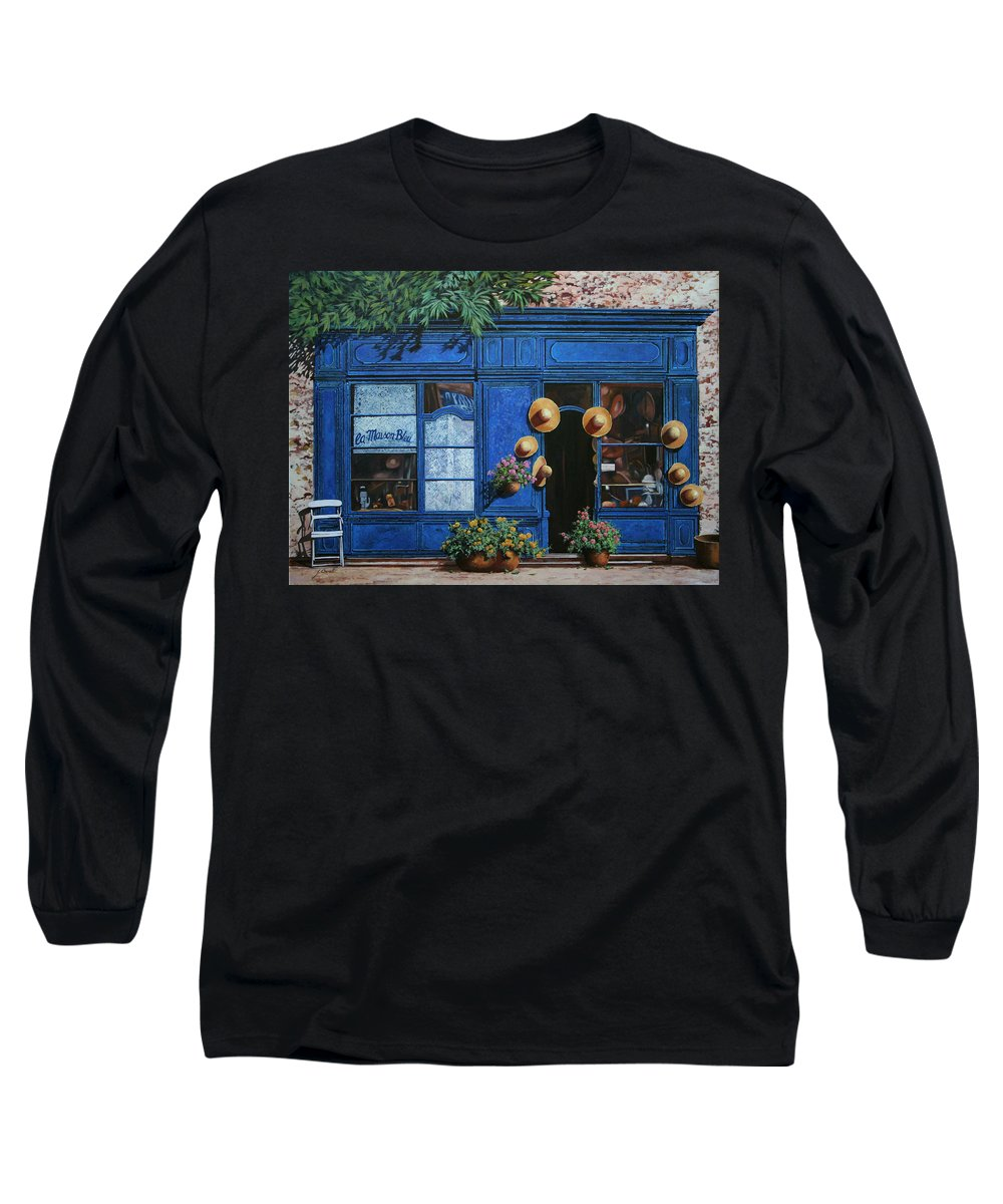 Shop Long Sleeve T-Shirt featuring the painting I Cappelli Gialli by Guido Borelli