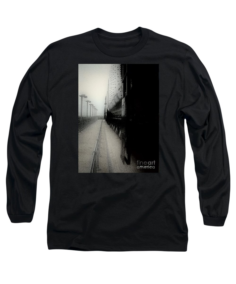 Train Long Sleeve T-Shirt featuring the digital art I Hear That Lonesome Whistle Blow by RC DeWinter