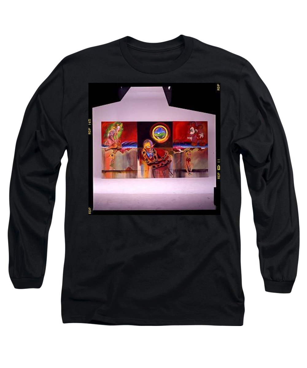 Spiderman Long Sleeve T-Shirt featuring the painting I Saw The Figure Five In Gold by Charles Stuart